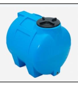 Емкость горизонтальная для воды G-350 КрымХимПласт